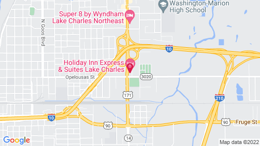 Holiday Inn Express Hotel & Suites Lake Charles, an IHG Hotel Map
