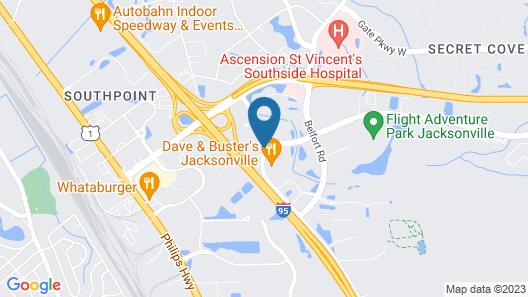 Best Western Premier Jacksonville Hotel Map