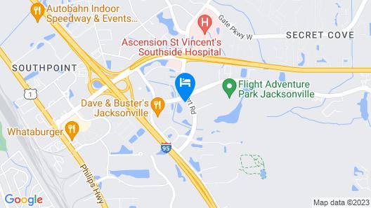 Sonesta Simply Suites Jacksonville Map