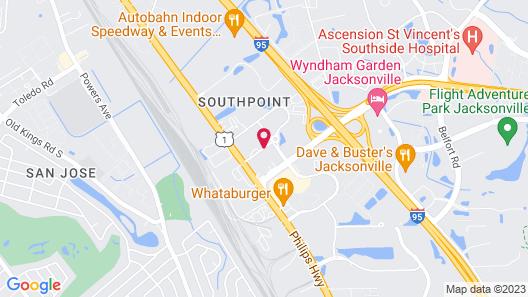 Hometown Inn & Suites Jacksonville - Butler Blvd./Southpoint Map