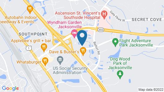 Extended Stay America Suites Jacksonville Salisbury Rd Map