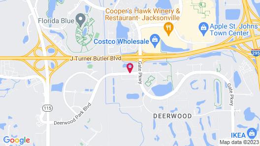 Sheraton Jacksonville Hotel Map