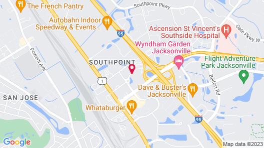 Extended Stay America - Jacksonville - Lenoir Avenue South Map
