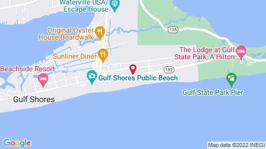 Best Western On The Beach Map