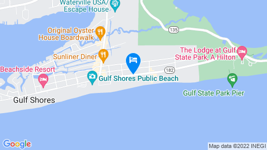 Best Western On The Beach Map