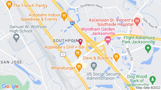 Hampton Inn Jacksonville South/I-95 at JTB Map