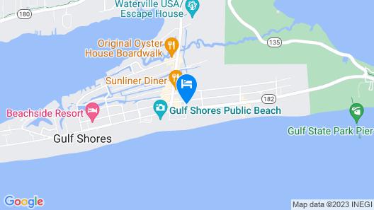 Beachview 207 Studio Bedroom Condo Map