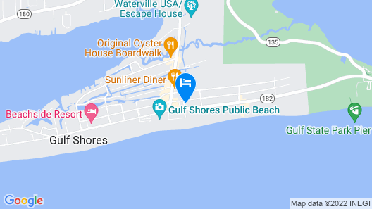 Condeaux Beach V~ Ready FOR 2021!!~across From THE Hangout!! LOW Rates!! Map