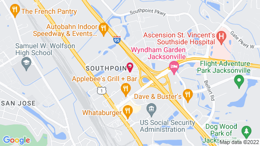 Red Roof Inn PLUS+ Jacksonville - Southpoint Map