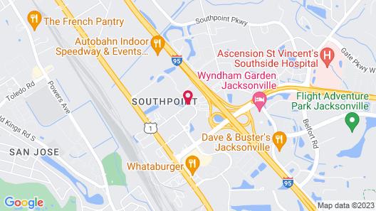 Extended Stay America - Jacksonville - Lenoir Avenue East Map