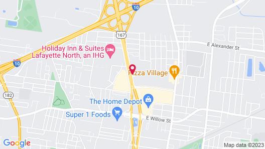 Hotel Lafayette LA North Map