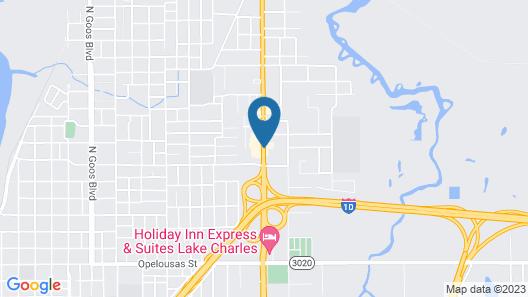 Comfort Suites Lake Charles Map