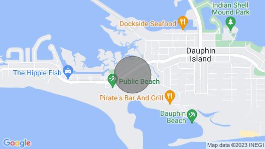 Unit 073 - Coastal Cottage - Close to the Dauphin Island Beaches and Bike Path Map