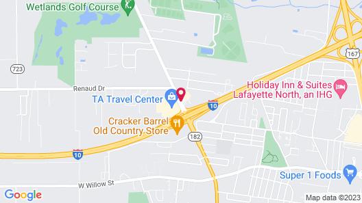 Red Roof Inn Lafayette, LA Map