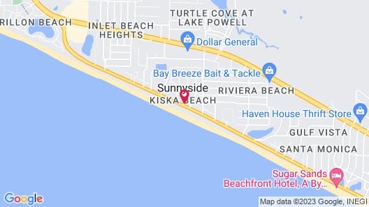 Beach House - Glory Daze by Panhandle Getaways Map