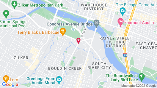 Extended Stay America Austin - Downtown - Town Lake Map