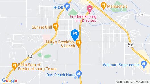 Best Western Plus Fredericksburg Map