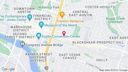 East Austin Hotel Map