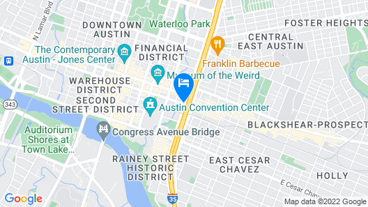 Hilton Garden Inn Austin Downtown Convention Center Map