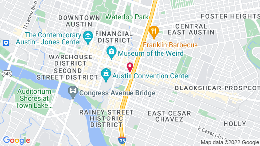Hilton Garden Inn Austin Downtown/Convention Center Map