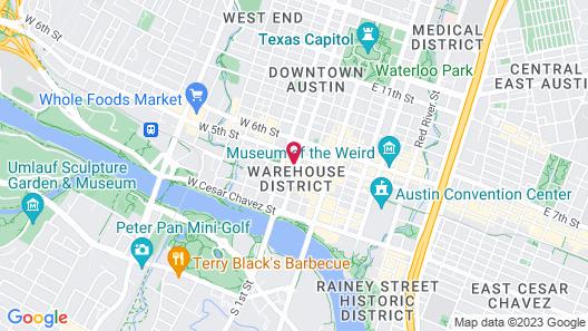 Hotel ZaZa Austin Map