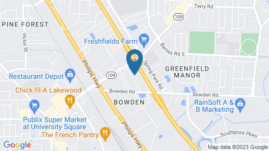 Zen Living Suites Extended Stay - Jacksonville - University Blvd Map