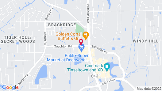 Homewood Suites by Hilton Jacksonville Deerwood Park Map