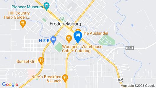 Fredericksburg Inn & Suites Map