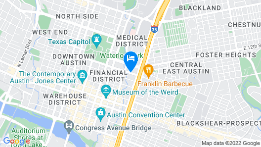 Sheraton Austin Hotel at the Capitol Map
