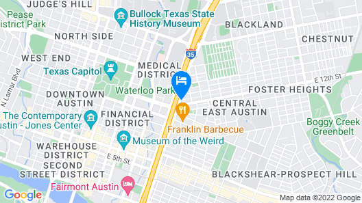 Super 8 by Wyndham Austin Downtown/Capitol Area Map