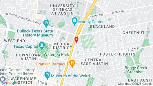 DoubleTree by Hilton Austin - University Area Map