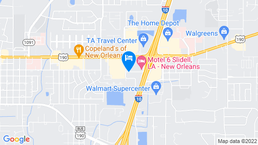 Best Western Plus Slidell Hotel Map