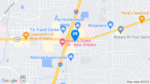 Euro Inn and Suites Slidell Map