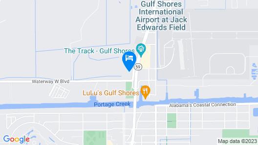 Motel 6 Gulf Shores, AL Map