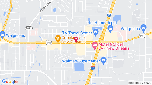 Americas Best Value Inn & Suites Slidell Map
