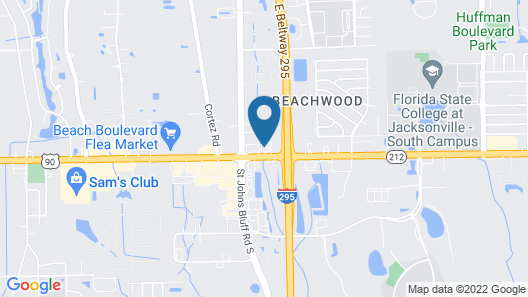 InTown Suites Extended Stay Jacksonville FL - Beach Blvd Map