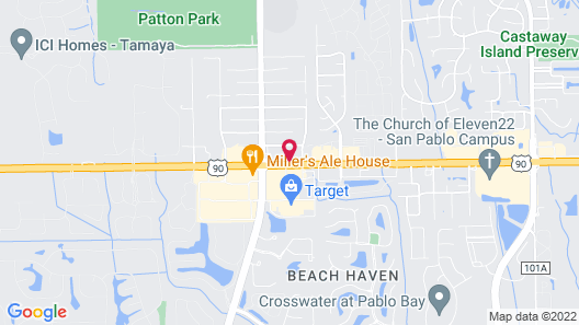 Hampton Inn & Suites Jacksonville - Beach Blvd/Mayo Clinic Map