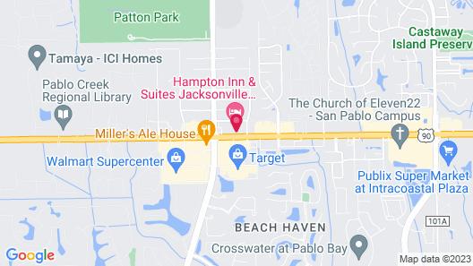 Hampton Inn & Suites Jacksonville - Beach Blvd/Mayo Clinic Map