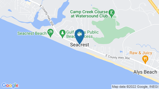 Magnolia Cottages by the Sea by Panhandle Getaways Map