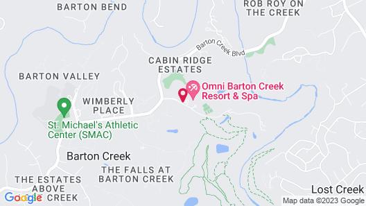Omni Barton Creek Resort & Spa Map