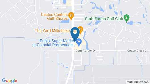 Courtyard by Marriott Gulf Shores Craft Farms Map