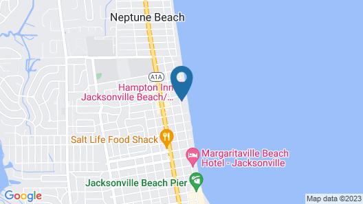 Hampton Inn Jacksonville Beach/Oceanfront Map