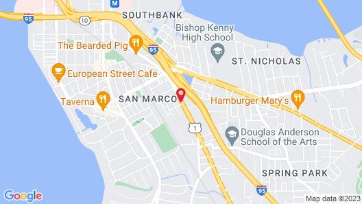 Scottish Inn Jacksonville Downtown Map