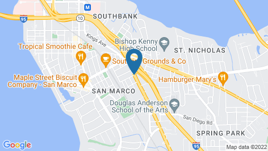 Magnuson Hotel Jacksonville Downtown Map