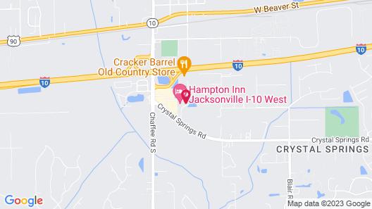 Hampton Inn Jacksonville I-10 West Map