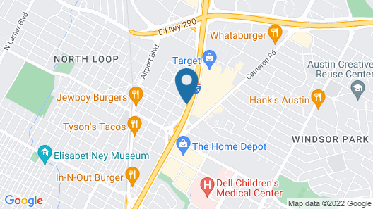 Motel 6 Austin, TX - Central Downtown UT Map