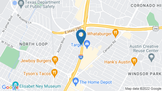Courtyard by Marriott Austin-University Area Map