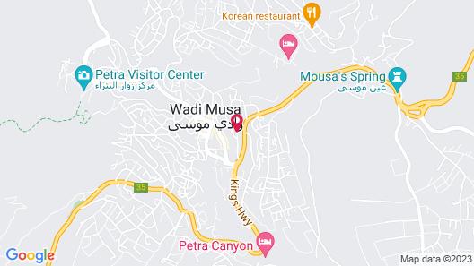 Petra Guests Hotel Map