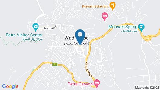 Petra Capsule Hostel Map