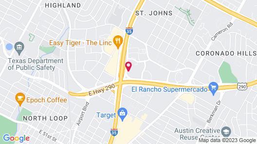 Radisson Hotel Austin North Map